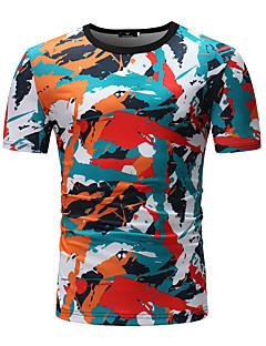 billige Herremote og klær-T-skjorte Herre - Fargeblokk, Trykt mønster Aktiv / Grunnleggende