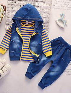 abordables Envoyés En 24 Heures-bébé Garçon Décontracté Quotidien Couleur Pleine Manches Longues Normal Coton Ensemble de Vêtements Orange / Bébé