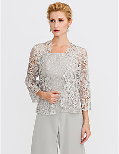 cheap Wedding Wraps-3/4 Length Sleeve Lace Wedding / Party / Evening Women's Wrap With Lace Shrugs