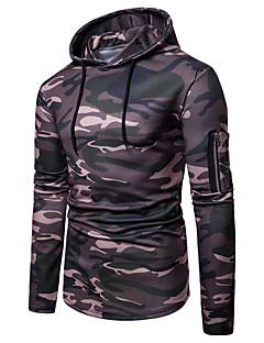 billige Herremote og klær-Herre Gatemote / Militær Hattetrøje - Trykt mønster, Fargeblokk / Kamuflasje