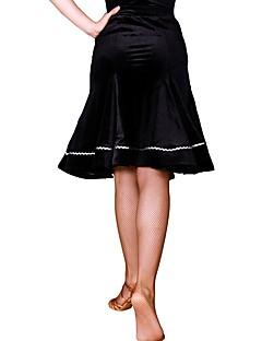 baratos Roupas de Dança Latina-Dança Latina Tutos e Saias Mulheres Treino Poliamida / Veludo Combinação Natural Saias