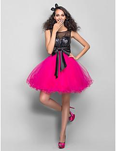 Χαμηλού Κόστους Φορέματα κοκτέιλ-Γραμμή Α Με Κόσμημα Κοντό / Μίνι Τούλι / Με πούλιες Φόρεμα με Χάντρες / Πούλιες με TS Couture®