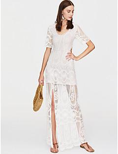 Χαμηλού Κόστους Επιλογές Συντακτών-Γυναικεία Εξόδου Κομψό στυλ street Λεπτό Εφαρμοστό Φόρεμα - Μονόχρωμο Μίντι Ψηλή Μέση Βαθύ V