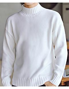 tanie Męskie swetry i swetry rozpinane-Męskie Weekend Golf Pulower Jendolity kolor Długi rękaw