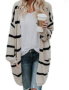 baratos Suéteres de Mulher-Mulheres Básico Carregam - Listrado