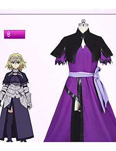 """billige Anime cosplay-Inspirert av Fate / zero Jeanne d'Arc Anime  """"Cosplay-kostymer"""" Cosplay Klær Enkel Kjole / Sjal / Sokker Til Dame Halloween-kostymer"""