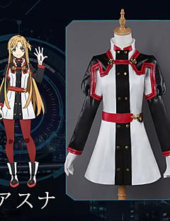 """billige Anime Kostymer-Inspirert av Sword Art Online Asuna Yuuki Anime  """"Cosplay-kostymer"""" Cosplay Klær Animé Langermet Topp / Bukser / Hansker Til Dame Halloween-kostymer"""