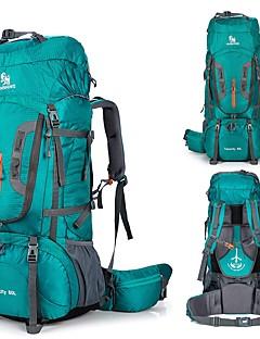 billiga Ryggsäckar och väskor-80 L Ryggsäckar / Ryggsäck - Regnsäker, Snabb tork, Bärbar Utomhus Jakt, Camping, Resor Nylon Orange, Grön, Blå