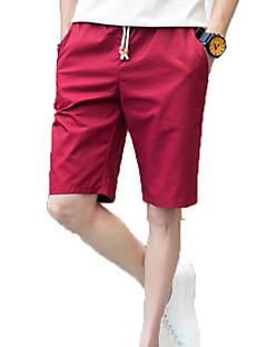 Χαμηλού Κόστους Chinos-Ανδρικά Κομψό στυλ street Chinos Παντελόνι Μονόχρωμο
