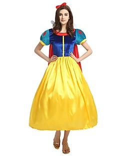 billige Voksenkostymer-Prinsesse Drakter Dame Halloween / Karneval / Barnas Dag Festival / høytid Halloween-kostymer Gul Ensfarget / Halloween Halloween