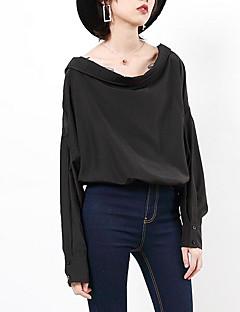 billige Skjorte-Grime Dame - Ensfarvet Skjorte