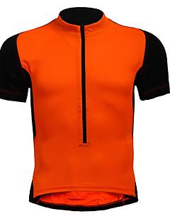 billige Sykkelklær-Herre Dame Kortermet Sykkeljersey - Rød Blå Svart / Oransje Helfarge Store størrelser Sykkel Jersey, Pustende Nylon Elastisk