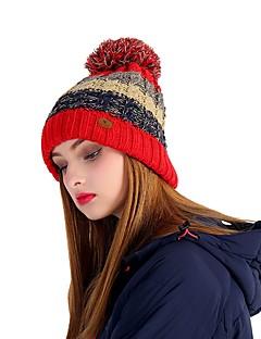 billige Clothing Accessories-VEPEAL Turcaps Skelett Caps Hatt Vindtett Hold Varm Stretch Vinter Rød Dame Vandring Reise Ski Lapper Tenåring Voksne / Elastisk