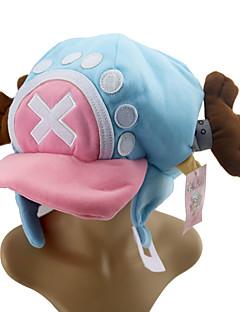 billige Anime Cosplay Tilbehør-Hatt / Lue Inspirert av One Piece Tony Tony Chopper Anime Cosplay-tilbehør CAP konstruktion Bomull Halloween-kostymer