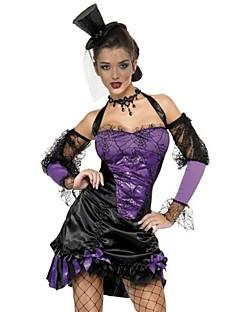 billige Halloweenkostymer-Trollmann / heks Vampyrer Kjoler Cosplay Kostumer Party-kostyme Maskerade Fancy Costume Dame Voksen Videregående skole Sexy Uniformer Halloween Halloween Karneval Maskerade Festival / høytid