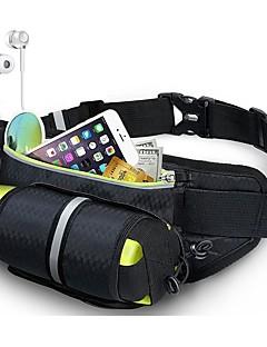 billiga Ryggsäckar och väskor-0.6 L Midjeväska - Lättvikt, Bärbar, Mateial som andas Utomhus Löpning, Fitness, Jogging Nylon Svart, Grön, Blå