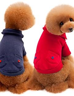 billiga Hundkläder-Hund / Katt Tröja Hundkläder Enfärgad Grå / Röd Cotton Kostym För husdjur Unisex Ledigt / vardag / Uppvärmning