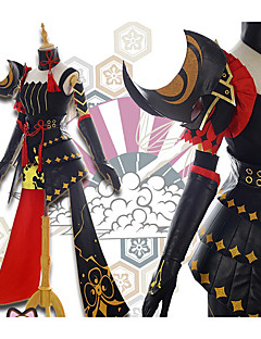 """billige Anime cosplay-Inspirert av Guns Girl - School DayZ Raiden Mei Anime  """"Cosplay-kostymer"""" Cosplay Klær Blomster / botanikk Skjørt / Topp / Hansker Til Dame"""