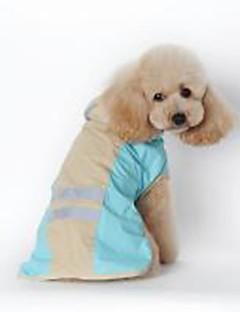 billiga Hundkläder-Hund / Katt Regnjacka Hundkläder Enfärgad Blå / Rosa PU läder Kostym För husdjur Unisex Vattentät / Vindtät