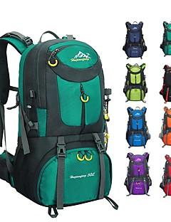 billiga Ryggsäckar och väskor-60 L Ryggsäckar / Ryggsäck - Lättvikt, Regnsäker, Mateial som andas Utomhus Camping, Resor Nylon Röd, Grön, Blå