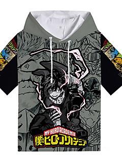 billige Anime Kostymer-My Hero Academy Battle For All / Boku no Hero Academia Midoriya Izuku T-skjorte Polyester / Bomull Til Unisex