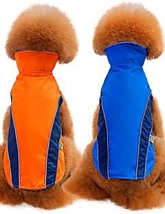 billiga Hundkläder-Hund / Katt Kappor / Väst Hundkläder Enfärgad Röd / Blå Terylen Kostym För husdjur Unisex Minimalistisk Stil / Ledig / Sportig