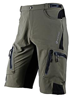 billige Sykkelklær-Nuckily Herre Sykkelshorts - Svart / Grå Sykkel Shorts / MTB-shorts, Vanntett, Fort Tørring, Anatomisk design, Pustende Lycra / Mikroelastisk