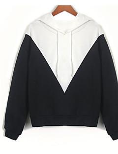 tanie Damskie bluzy z kapturem-damska bluza bawełniana z długimi rękawami - kolor z kapturem