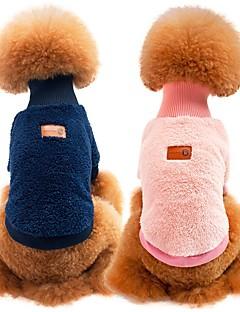 billiga Hundkläder-Hund / Katt Tröja Hundkläder Enfärgad Blå / Rosa / Khaki grön 100% Korall Fleece / Cotton Kostym För husdjur Unisex Sport och utomhus / Ledigt / vardag