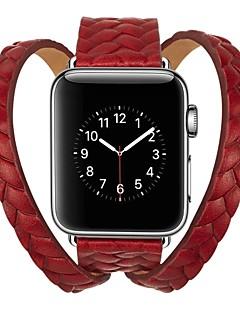 billige Ur Tilbehør-Kalvehår Urrem Strap for Apple Watch Series 3 / 2 / 1 Sort / Blåt / Rød 23cm / 9 tommer 2.1cm / 0.83 Tommer