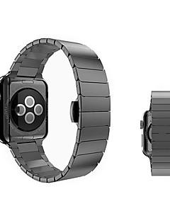 billige Ur Tilbehør-Rustfrit stål Urrem Strap for Apple Watch Series 3 / 2 / 1 Sort / Sølv / Guld 23cm / 9 tommer 2.1cm / 0.83 Tommer