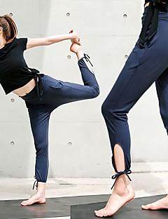 Χαμηλού Κόστους Άσκηση, γυμναστική και γιόγκα-Γυναικεία Με κοψίματα Παντελόνι για γιόγκα - Σκούρο μπλε Αθλητισμός Συμπαγές Χρώμα Παντελόνια Φούστες Τρέξιμο, Fitness, Προπόνηση Ρούχα Γυμναστικής Αναπνέει, Moale, Αντίστροφη καρότσα