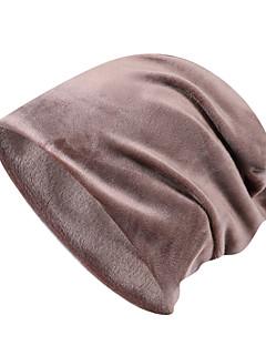 tanie Odzież turystyczna-Czapka turystyczna Czapka Skull Caps Zatrzymujący ciepło Jesień Zima Czerwony Unisex Ćwiczenia na zewnątrz Sporty zimowe Klasyczny Doroślu / Średnio elastyczny