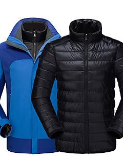 billiga Skid- och snowboardkläder-Herr Skidjacka Vindtät, Vattentät, Håller värmen Skidåkning / Camping / Snowboardåkning 100% Polyester, Ner Dunjackor Skidkläder
