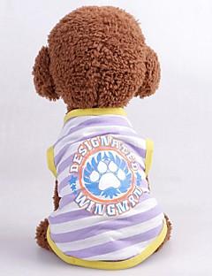 billiga Hundkläder-Hund / Katt Väst Hundkläder Crewels / Figur / Bokstav & Nummer Purpur / Fuchsia / Blå Terylen Kostym För husdjur Unisex Ledigt / vardag / Minimalistisk Stil