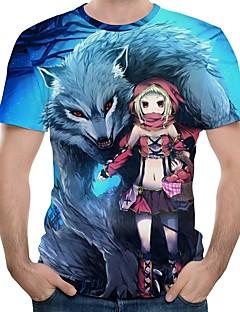 """billige Anime cosplay-Inspirert av Cosplay Cookie Anime Anime  """"Cosplay-kostymer"""" Cosplay T-skjorte Animé / Tegneserie Kortermet T-Trøye Til Herre Halloween-kostymer"""
