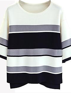 baratos Suéteres de Mulher-Mulheres Moda de Rua Pulôver - Estampa Colorida