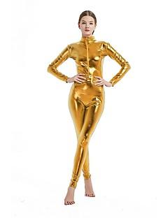billige Zentai-Zentai Drakter Cosplay Kostumer Zentai Cosplay-kostymer Rosa / Gylden / Fuksia Ensfarget Spandex Lykra Elastisk Unisex Jul Halloween Karneval