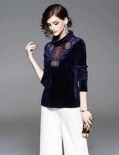 billige Dametopper-T-skjorte Dame - Blomstret / Geometrisk, Broderi Vintage / Grunnleggende