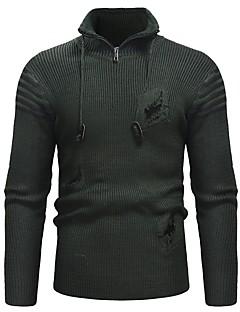 baratos Suéteres & Cardigans Masculinos-Homens Básico Pulôver - Sólido, Buraco