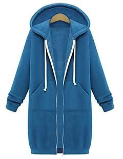 baratos Abrigos e Moletons Masculinos-Mulheres Básico / Moda de Rua Jacket Hoodie Sólido