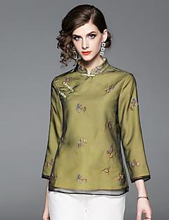 billige Dametopper-Skjorte Dame - Blomstret, Broderi Vintage / Chinoiserie
