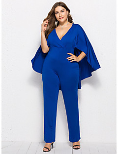billige Jumpsuits og sparkebukser til damer-Dame Gatemote Sparkedrakter - Ensfarget, Lapper
