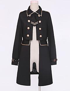 billiga Lolitamode-Klassisk / Traditionell Lolita Casual Lolita Klänning Traditionellt / Vintage Elegant Dam Kappa Cosplay Svart Holkärm Långärmad Kostymer