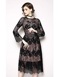 billiga Cocktailklänningar-A-linje Prydd med juveler Telång Spets Formell kväll Klänning med Spets / Färgblock av LAN TING Express