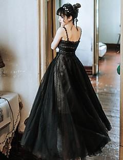 billiga Lolitamode-Svart svan Elegant Kostym Dam Klänningar Maskerad Svart Vintage Cosplay Tyll Duk Ärmlös