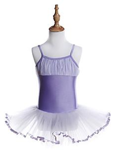 tanie Stroje baletowe-Balet Sukienki Dla dziewczynek Szkolenie / Spektakl Poliester / Spandeks Jak fala / Materiały łączone Bez rękawów Sukienka