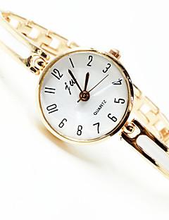 billige Armbåndsure-Dame Armbåndsur Quartz Nyt Design Afslappet Ur Legering Bånd Analog Elegant Minimalistisk Guld - Guld