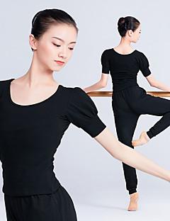 billige Nyheter-Ballet Topper Dame Trening / Ytelse Elastan / Lycra Strikk Kortermet Topp