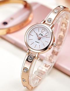 billige Armbåndsure-Dame Armbåndsur Quartz Afslappet Ur Imiteret Diamant Legering Bånd Analog Elegant Minimalistisk Guld - Guld Sølv